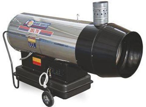 Gas/deisel (Hybrid) Jet Heater whit Exhust,70000Kcal/h  2ELB70,
